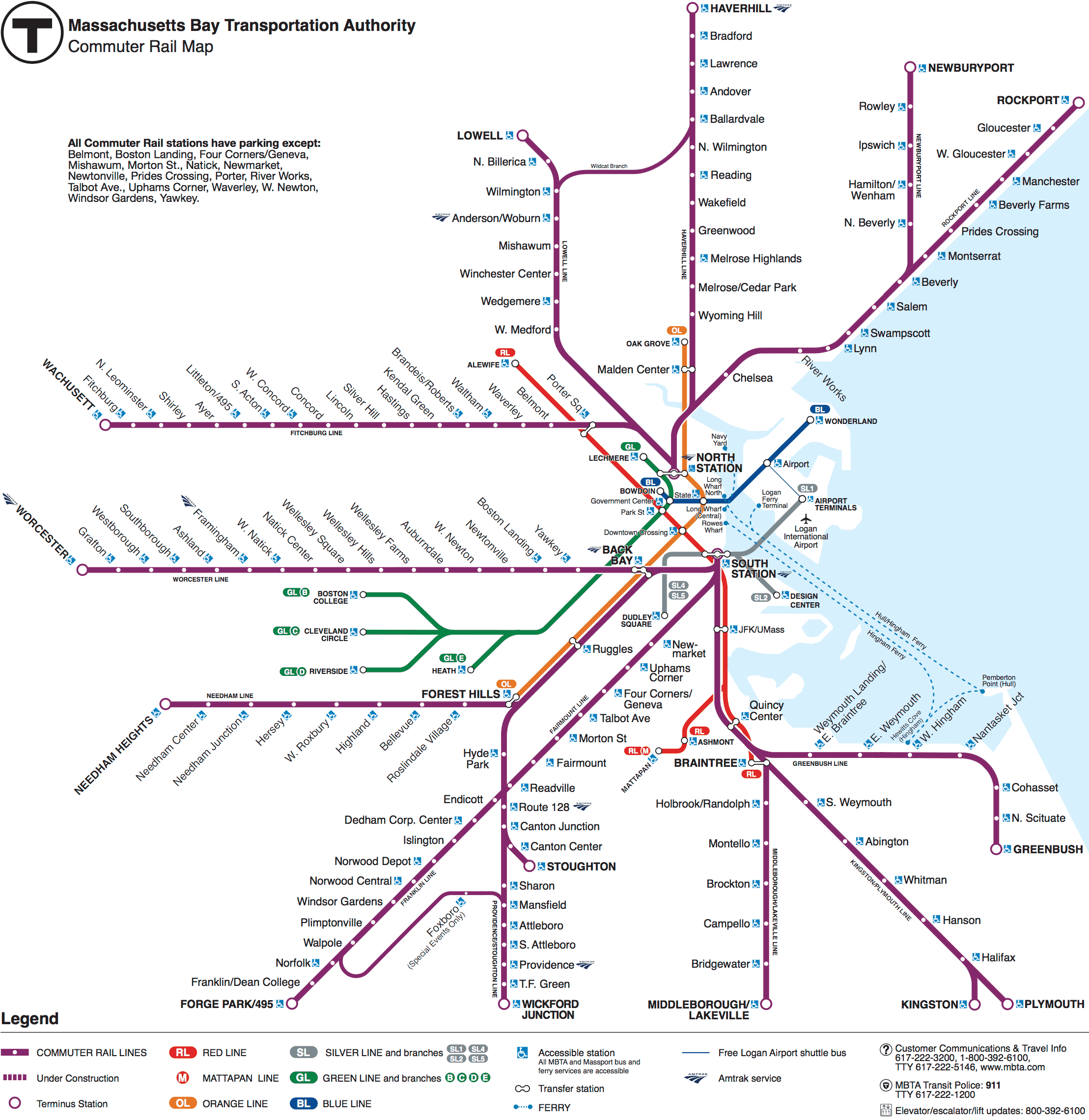 Commuter Rail Schedules Maps MBTA Massachusetts Bay - Map massachusetts