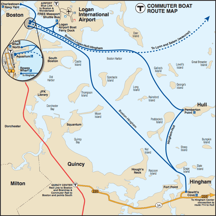 Ferry Schedules Maps MBTA Massachusetts Bay Transportation - Map massachusetts