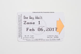 Zone 1 One Way Pass on a CharlieTicket